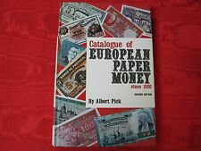 Book: Catalog Of European Paper Money Since 1900 By Albert Pick, 2nd Edit. New!