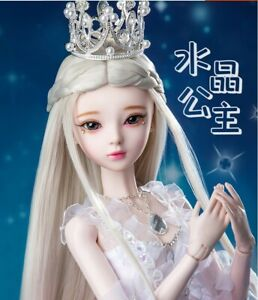 """New 1/3 Handmade PVC BJD MSD Lifelike Doll Joint Dolls Women Girl Gift Andy 24"""""""