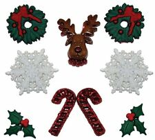 Jesse James Dress It Up Buttons Christmas Deck The Halls  Sewing Crafts