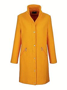 Dress In Edler Damen Mantel 37% Wolle Safran-Ton Gr.52 UVP€109,99 neu Übergröße