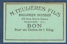 FRANCE - 1 BON POUR UN CHOINE DE 1KILOG. Non Daté. en NEUF.
