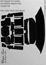 Black Velours Carpet Set for Fiat 1200 / 1500 / 1600S Spider 1959-1966