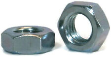 "Hex Jam Nut Zinc Plated Grade A Steel Hex Nuts - 1/4""-20 UNC - Qty-100"
