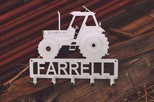 COATHOOK Tractor Design, 5 Hooks, Free Personalisation