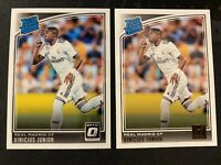 2018-19 Donruss Optic Soccer Vinicius Junior RC LOT (2) Cards Optic & Donruss