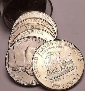 Gem UNC Rouleau (40 Pièces) États-unis 2004-D Quillard Nickels