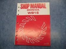HONDA 1985 WB15 PORTABLE GENERATOR SHOP MANUAL GUIDE REPAIR