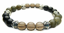 PROTECTION 8mm Crystal Intention Bracelet with Description - Healing Reiki Stone