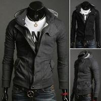 2013 Fashion Tops Hot New Men's Slim Sexy Cotton Hoody Jacket Coat size S M L XL