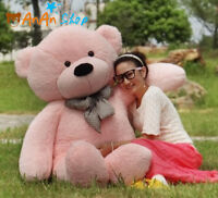 New Giant plush pink teddy bear huge stuffed animal soft toy birthday gifts 63''