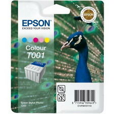 Genuine Epson Stylus T001 011 Color Ink Fits Photo 1200