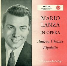 "Mario Lanza in Opera Arias from Andrea Chénier RIGOLETTO 7 "" Single (C282)"
