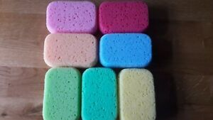 3 x Rectangular Bath Sponges - Bath, Shower, Clean - Random Colours.