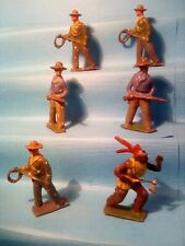 Britains Cowboys x5 With 1 Indian , Lead Toy Soldiers , Kn,Ld3 *U.K.Only