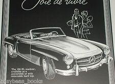 1958 MERCEDES-BENZ 190 advertisement, Mercedes 190 SL Roadster