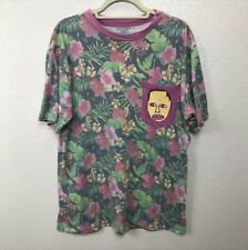 Odd Future Earl Pocket Floral Hawaiian Short Sleeve Tee Men's Large @