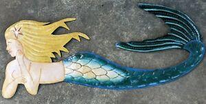 Mermaid Decor Wall Figurine Great tiki bar decoration