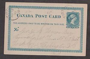 1879 Stirton, C.W. WTN. broken circle AU 12, on a postal card.  Late use of hamm