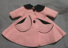 "Vintage American Character Clothes for 8"" Betsy McCall Doll - Pink & Black Coat"