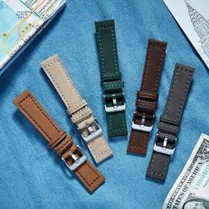 VintageTime Watch Straps - Smooth Suede Green Leather Replacement Watch Bands