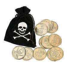 6 Pirate Bags with Gold Coins 12 coins per Bag Kid's Birthday Party Favors