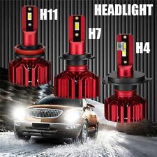 Car LED Headlight Car Turbo LED Kits Light Bulbs 10000LM 6000K Canbus H4 H7