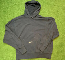 Vintage Nike Center Swoosh Pocket Travis Scott Blue Hoodie Sweater L Mini Check