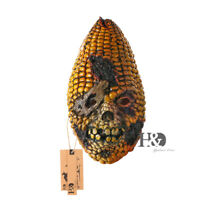 Halloween Scary Burned Corn Mask Latex Full Face Head Mask Masquerade Adult 15""