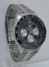 Vtg Pierre Ferret Montres Divers Quartz Stainless Steel Gents Chronograph Watch