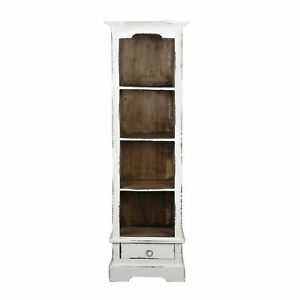 Sunset Trading Cottage Narrow Bookcase | Distressed White