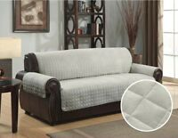 Slipcover Sofa Loveseat Chair Furniture Cover Brown Black Taupe Micro Suede Ebay