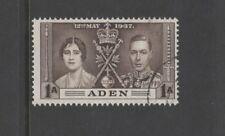 ADEN SG13 1937 CORONATION 1a BROWN - Fine Used