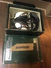 Vintage Rare Sansui Stereo Headphones Ss-10 W/cord And Box Japan Estate