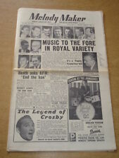 MELODY MAKER 1954 OCTOBER 16 ROYAL VARIETY PERFORMANCE TED HEATH BING CROSBY +