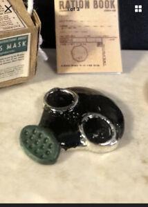 Dolls House Miniature Gas Mask Wartime Ww2