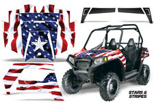 UTV Graphics Kit SxS Decal Sticker Wrap For Polaris RZR 570 2012-2019 USA FLAG