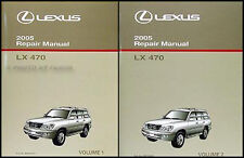 2005 Lexus LX 470 Shop Manual Set Original OEM LX470 Repair Service Books