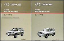 2005 Lexus LX 470 Shop Manual Set Original OEM LX470 Repair Service Books