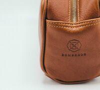 BOMBEROS Leather Dopp Toiletry Kit / Travel Bag, Cordura Lining, Made In NYC USA