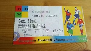 Euro 96 Semi Final 26.6. 1996 Germany V England Ticket Stub Wembley
