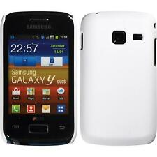 Hardcase for Samsung Galaxy Y Duos rubberized white Cover + protective foils