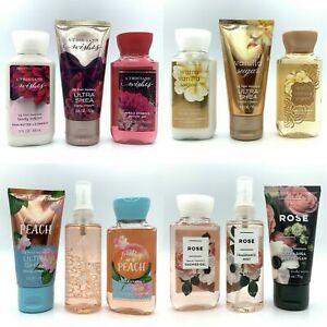 Bath Body Works Mini Travel Size Spray, Lotion, Shower Gel Pocket Backs 3oz