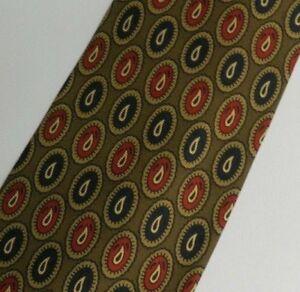 Brown Paisley BOSS Silk Tie