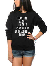 Leave Me Alone I'm Only Talking To My Labradoodle Kids Sweatshirt