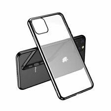 Para iPhone 11 Pro-claro caso de silicona con borde negro
