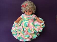 "12"" Zanini Zambelli Baby Doll 1988 Vinyl & Cloth w/ custom made unique dress"