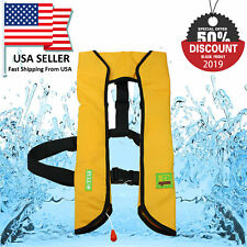 New M-33 Manual Life Jacket Vest Manual Inflatable PFD Survival Floatation