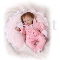 18'' Handmade Vinyl Silicone Reborn Sleeping Baby Toy Dolls Lifelike Girl Gift !