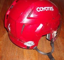 ARIZONA COYOTES Niklas Hjalmarsson game-worn CCM helmet Hockey For Everyone 2018