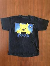 Vintage 90s Winnie The Pooh T-Shirt Size XL Disney Cartoon Navy Blue